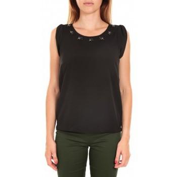 Vêtements Femme Débardeurs / T-shirts sans manche Vero Moda Top BABALULA S/S Noir Noir