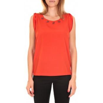 Vêtements Femme Débardeurs / T-shirts sans manche Vero Moda Top BABALULA S/S Rouge Rouge