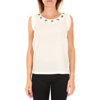 Vêtements Femme Débardeurs / T-shirts sans manche Vero Moda Top BABALULA S/S Blanc Blanc