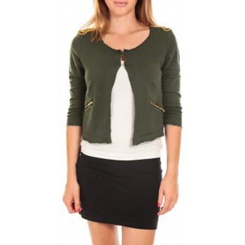 Vêtements Femme Vestes / Blazers Vero Moda WILIANA 3/4 BLAZER Kombu Green/W.BLACK Vert Vert
