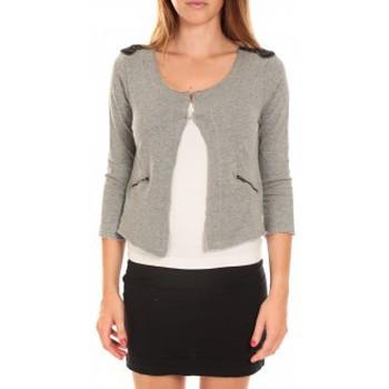 Vêtements Femme Vestes / Blazers Vero Moda WILIANA 3/4 BLAZER Light Grey Mela/W Gris Gris