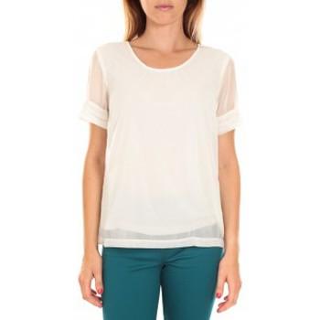 Vêtements Femme T-shirts manches courtes Vero Moda Top BLOMMA SS Snow White Blanc