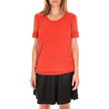 Vêtements Femme T-shirts manches courtes Vero Moda Top BLOMMA SS Poinciana Rouge Rouge