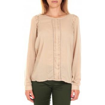 Vêtements Femme T-shirts manches longues Vero Moda Top LYON LS Doeskin Beige Beige