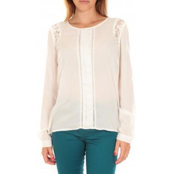Vêtements Femme T-shirts manches longues Vero Moda Top LYON LS Snow White Blanc
