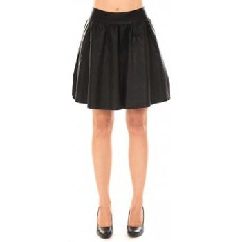 Vêtements Femme Jupes Vero Moda JANICE SHORT PU SKIRT Black Noir