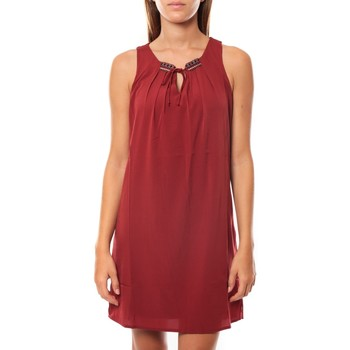 Vêtements Femme Robes courtes Vero Moda KRISTY S/L SHORT DRESS EX7 Rosewood Rouge
