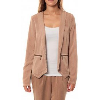 Vêtements Femme Vestes / Blazers Vero Moda KANIO LS BLAZER Mahogany Beige