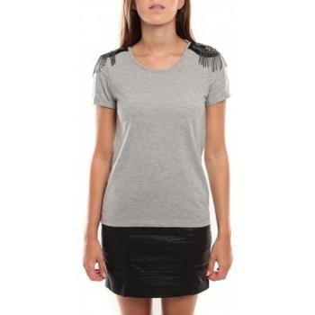 Vêtements Femme T-shirts manches courtes Vero Moda Barut SS Top 96915 Gris clair Gris