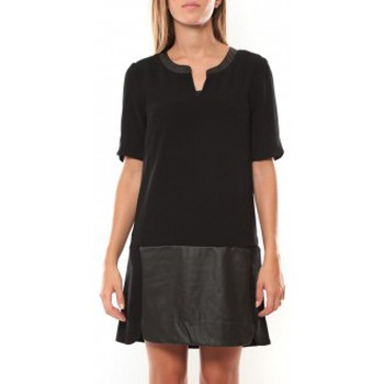 Vêtements Femme Robes courtes Vero Moda Selma 3/4 Short Dress 97506 Noir Noir