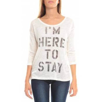 Vêtements Femme T-shirts manches longues Vero Moda TESSA 3/4 Top 10098264 Blanc Blanc
