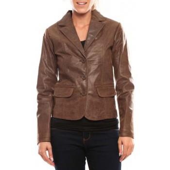 Vêtements Femme Vestes en cuir / synthétiques Comme Des Filles Comme des Garçons Veste Blazer Aurora Marron