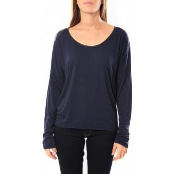 Vêtements Femme T-shirts manches longues Vero Moda Kisha ls Top 10099844 Marine Bleu