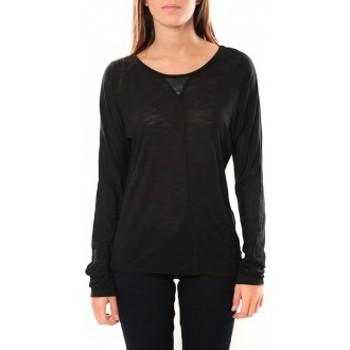Vêtements Femme T-shirts manches longues Vero Moda Point l/s Top it 10100690 Noir Noir