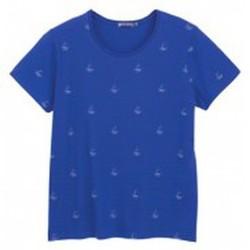 Vêtements Femme T-shirts manches courtes Petit Bateau Tee shirt MC 3433448220 Bleu Bleu