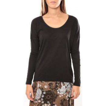 Vêtements Femme T-shirts manches longues Vero Moda Kisha ls Top 10099844 Noir Noir