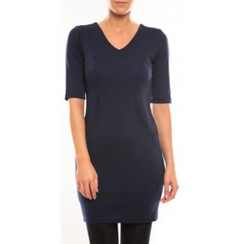 Vêtements Femme Robes courtes Vero Moda Regina 2/4 Short Dress 10099101 Bleu Bleu