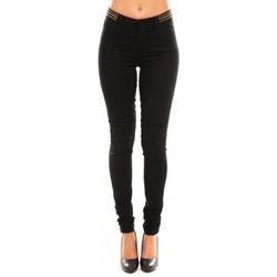 Vêtements Femme Pantalons La Vitrine De La Mode Vero Moda Wonder NW Skinny Bead 10099955/32 Noir