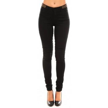 Vêtements Femme Pantalons Vero Moda Wonder NW Skinny Bead 10099955/32 Noir