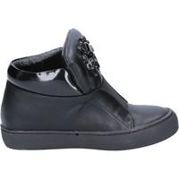 Chaussures Femme Bottines Sara Lopez sneakers noir cuir BX704 noir