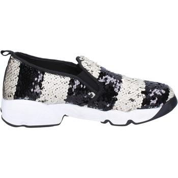 Chaussures Femme Slip ons J. K. Acid chaussures femme  slip on blanc paillettes noir BX744 blanc