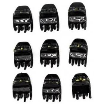 Accessoires Cheveux new boss s.L new and boss - lot 9 mini pinces noir