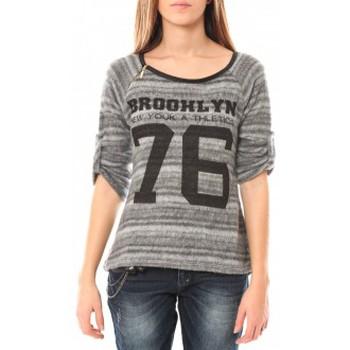 Vêtements Femme Pulls De Fil En Aiguille Pull Brooklyn 76 Gris