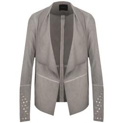 Vêtements Femme Vestes / Blazers Guess Veste à Franges Cloud Grey 35