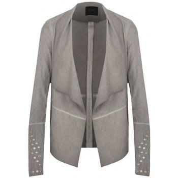Vêtements Femme Vestes Guess Veste à Franges Cloud Grey Gris