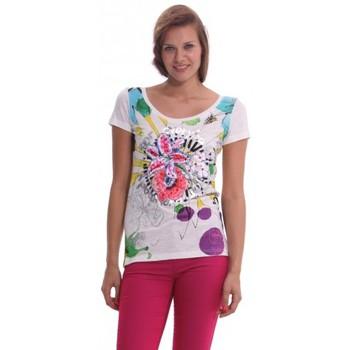 Vêtements Femme T-shirts manches courtes Desigual TS_Termic 41T2449 Blanc