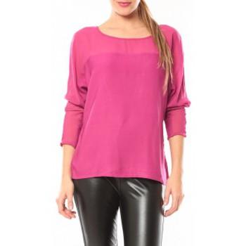 Vêtements Femme T-shirts manches longues Vero Moda Melnes 7/8 Top 10106830 Fushia Rose