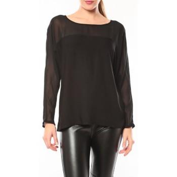Vêtements Femme T-shirts manches longues Vero Moda Melnes 7/8 Top 10106830 Noir Noir