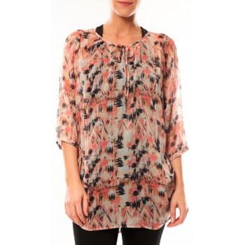 Vêtements Femme Tuniques Vero Moda Katty Lee 3/4 Tunic 10105918 Rose/Noir Rose