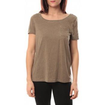 Vêtements Femme T-shirts manches courtes Vero Moda Moog ss Top 10105862 Taupe Marron