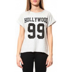 Vêtements Femme T-shirts manches courtes By La Vitrine Tee Shirt Hollywood 99 Blanc Blanc