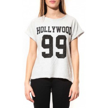 T-shirts manches courtes By La Vitrine Tee Shirt Hollywood 99 Blanc