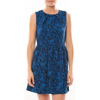 Vêtements Femme Robes courtes Vero Moda Robe Noel SL Mini Dress Mix Wall 10087646 Bleu Bleu