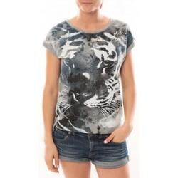 Vêtements Femme T-shirts manches courtes L'atelier Du Marais T-Shirt Tiger Gris Gris