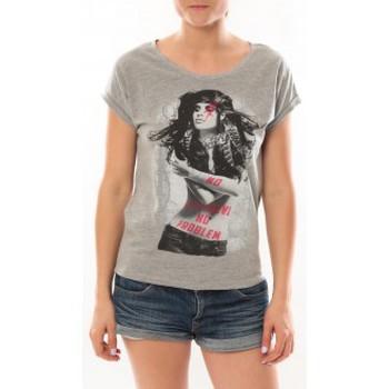 Vêtements Femme T-shirts manches courtes L'atelier Du Marais T-Shirt Want To See Gris Gris