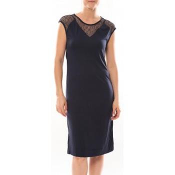 Vêtements Femme Robes courtes Vero Moda Shake It SL Knee Dress 10105501 Bleu Bleu