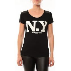 Vêtements Femme T-shirts manches courtes Dress Code T-Shirt Love Look NY 1660 Noir Noir