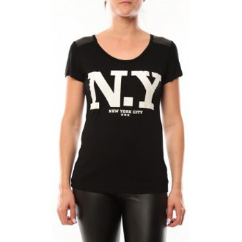 T-shirts manches courtes Dress Code T-Shirt Love Look NY 1660 Noir