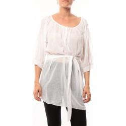 Vêtements Femme Tuniques De Fil En Aiguille Robe JL Blanc Blanc