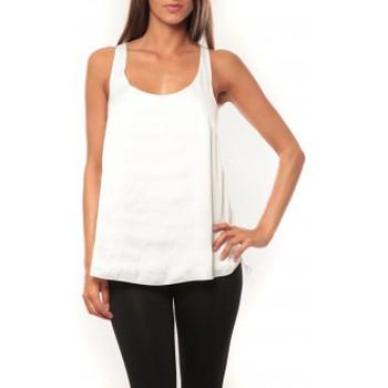 Vêtements Femme Débardeurs / T-shirts sans manche Vero Moda Tokio S/L Top It 10108950 Blanc Blanc