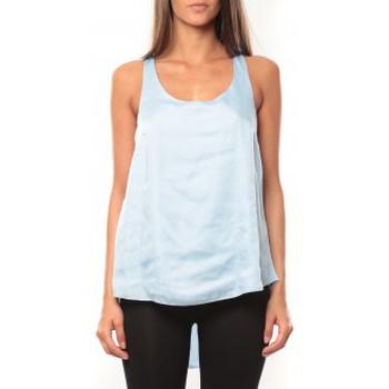 Vêtements Femme Débardeurs / T-shirts sans manche Vero Moda Tokio S/L Top It 10108950 Bleu Bleu