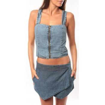 Vêtements Femme Débardeurs / T-shirts sans manche Dress Code Bustier Saxx Bleu Bleu