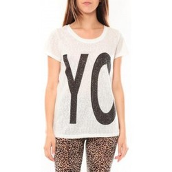 Vêtements Femme T-shirts manches courtes Tcqb Tee shirt SL1511 Blanc Blanc