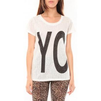 T-shirts manches courtes Tcqb Tee shirt SL1511 Blanc