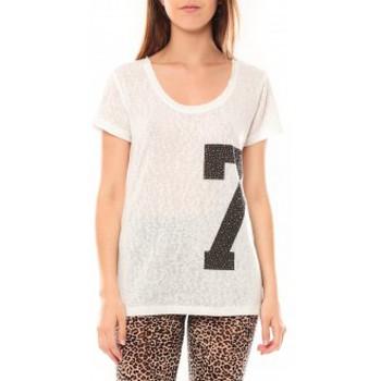T-shirts manches courtes Tcqb Tee shirt SL1601 Blanc