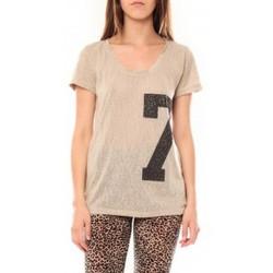 Vêtements Femme T-shirts manches courtes Tcqb Tee shirt SL1601 Beige Beige